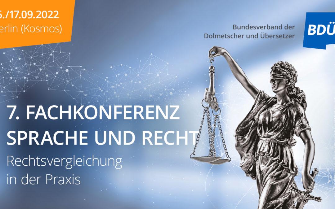 Fachkonferenz «Sprache und Recht» des BDÜ